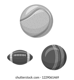 bitmap illustration of sport and ball symbol. Set of sport and athletic bitmap icon for stock.