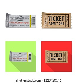 bitmap illustration of ticket and admission icon. Collection of ticket and event bitmap icon for stock.