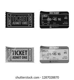 bitmap illustration of ticket and admission icon. Set of ticket and event stock bitmap illustration.