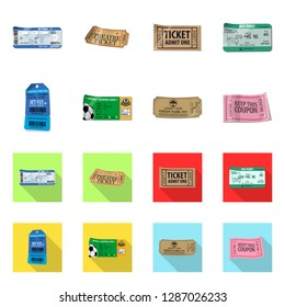 bitmap illustration of ticket and admission logo. Collection of ticket and event bitmap icon for stock.