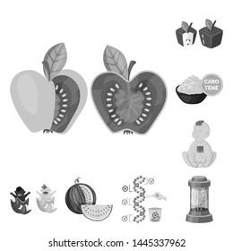 bitmap illustration of transgenic and organic symbol. Collection of transgenic and synthetic bitmap icon for stock.