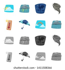 bitmap illustration of weather and climate icon. Collection of weather and cloud stock bitmap illustration.