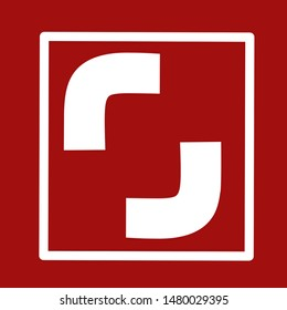 bitmap shutterstock logo red and white