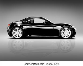 Black 3D Sports Car