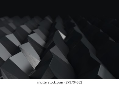 Black abstract geometric background