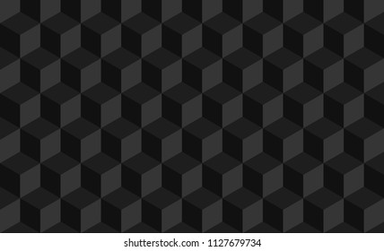 Black abstract geometric pattern, Black square pattern background