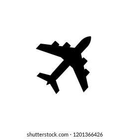 Black airplane icon.