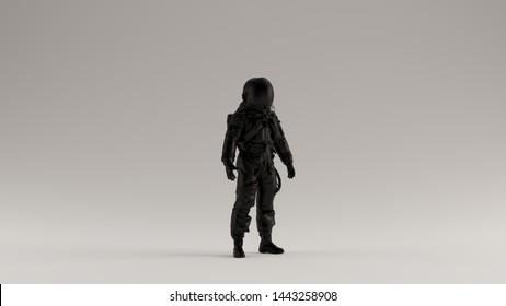 Black Astronaut Advanced Crew Escape Suit 3d illustration 3d render