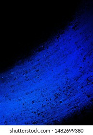 black background with blue abstract striped texture in brush stroke paint design that is vibrant and colorful in creative artsy illustration