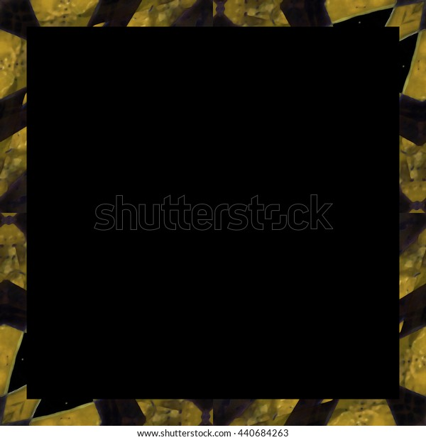 Black background with Digital abstract geometric design borders