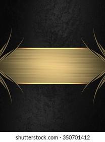 element design template design black background stock illustration