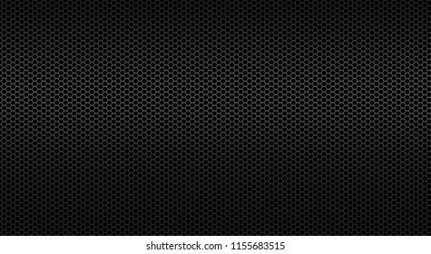 Black background of perforated metal sheet