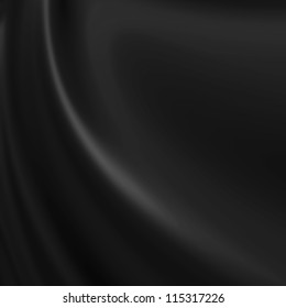 Black background resembling cloth, canvas, paint, silk or satin material with waving lines