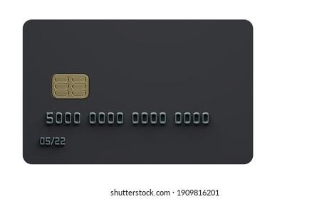 Black Bank Card White Back Premium 8K