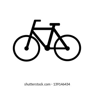 Black bicycle isolated icon