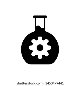 Black Bioengineering icon isolated on white background. Element of genetics and bioengineering icon. Biology, molecule, chemical icon