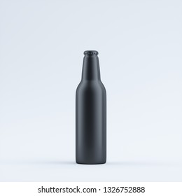 black blank aluminum bottle isolated on a limbo