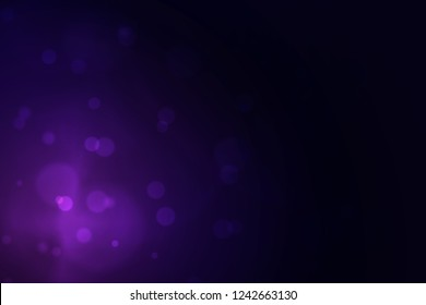 black and blue purple gradient background with bokeh, bokeh background for night party, beautiful bokeh and flair lighting on black and purple blue background color