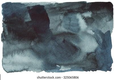 black blue watercolor stain, spot, abstract background