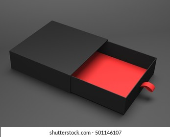 Black box 3d rendering