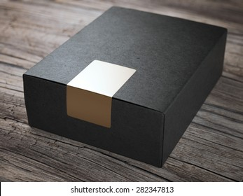 Black box with golden sticker
