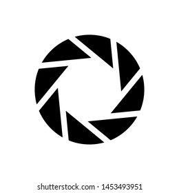 Black Camera shutter icon isolated on white background