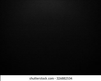 Black carbon structure background - 3D hexagon geometric structure pattern