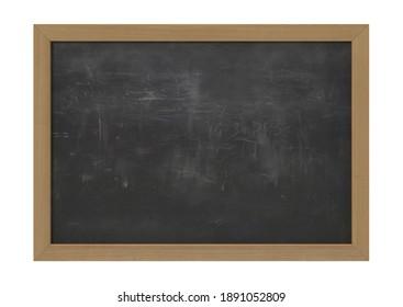 Black Chalkboard 3D illustration on white background
