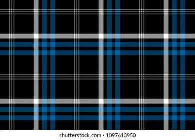 Black check seamless fabric texture background.