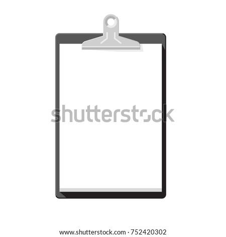 black clipboard blank paper simple template stock illustration