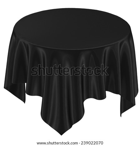 Black Cloth On The Table