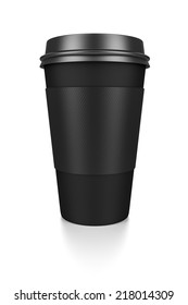 A black coffee to go isolated on a white background