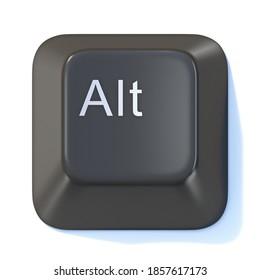 Black computer keyboard ALT key 3D