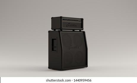 Black Concert Speakers 3d illustration 3d render