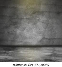 black concrete background room design