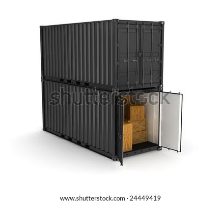 black container on white background stock illustration. Black Bedroom Furniture Sets. Home Design Ideas