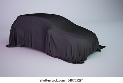 black covered car