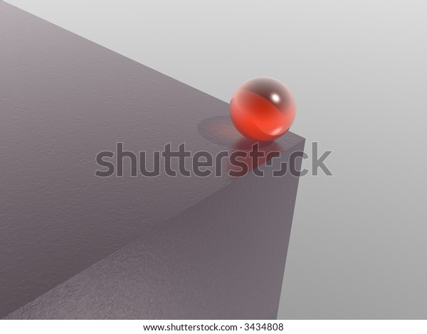 black cube and red sphere