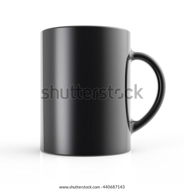 Black cup 3D render