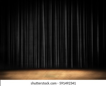 Black Curtain Stage Background