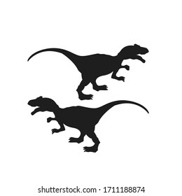 black dinosaur wild animal background illustration