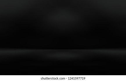 Black empty room studio gradient used for background and display your product