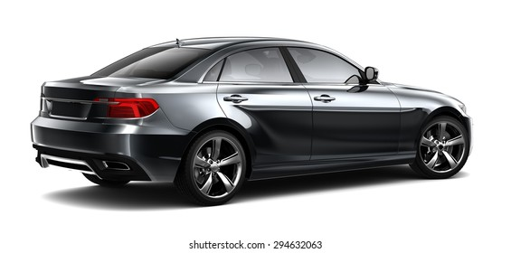 Black executive car - 3D illustration