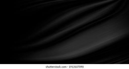 Black fabric texture background illustration