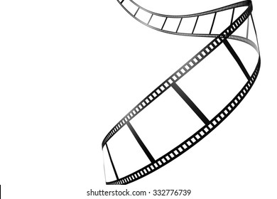 Black film strip isolated image with hi-res rendered artwork that could be used for any graphic design.