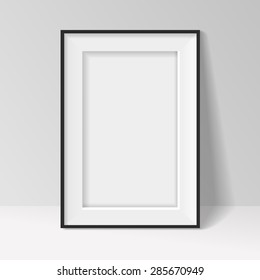 Black frame on a wall  background design for your content