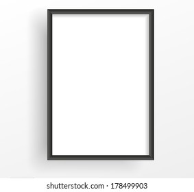 Black frame on the white wall