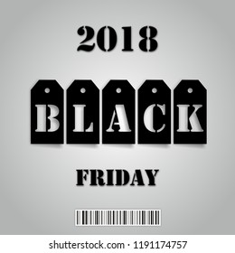 Black Friday 2018 business background