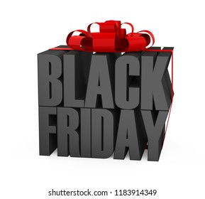 Black Friday Concept Isolated. 3D rendering