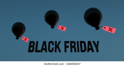 Black Friday Discount Illustration in very high resolution